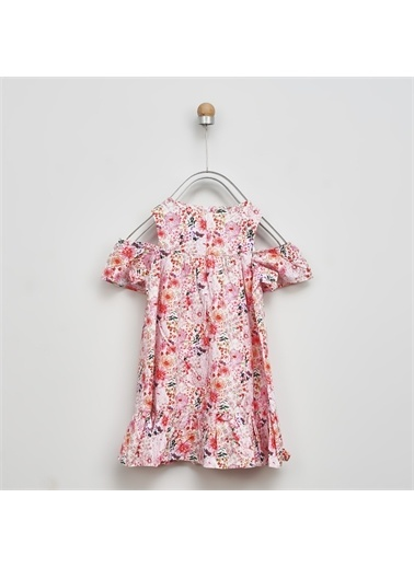 Panço Kız Çocuk Elbise 2011GK26068 Renkli